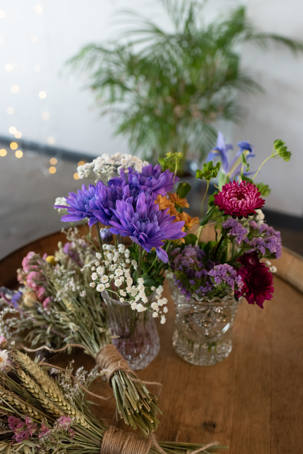 Table Flowers Vase Centrepiece Decor Northern Monk Brewery Wedding Lisa Howard Photography