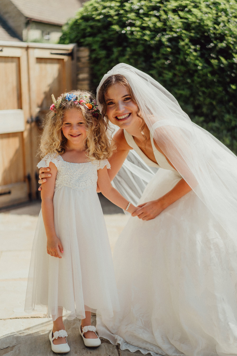 Flower Girl Dress Priors Court Barn Wedding Emily & Steve Photography