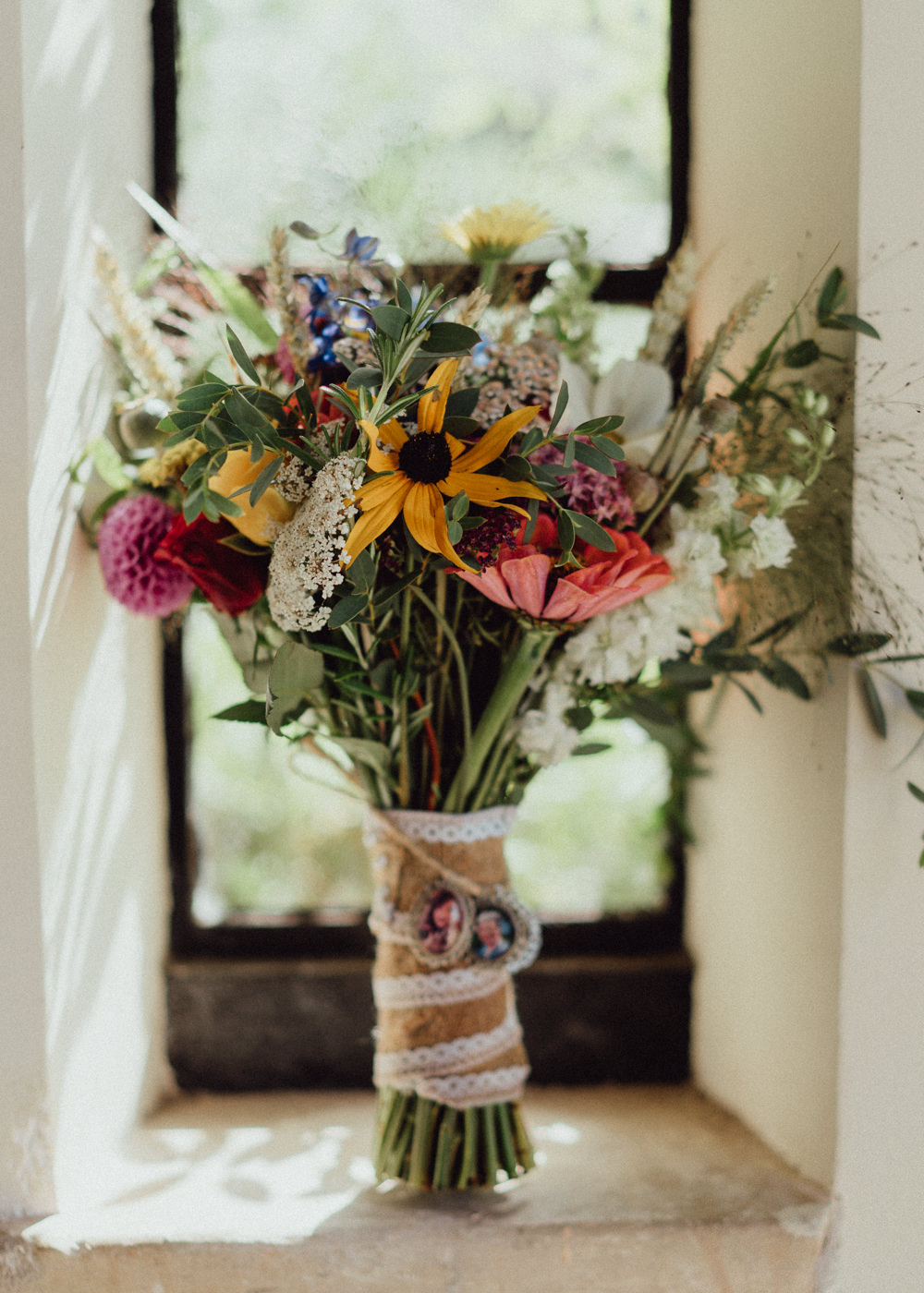 Bouquet Flowers Bride Bridal Dahlia Wheat Greenery Priors Court Barn Wedding Emily & Steve Photography
