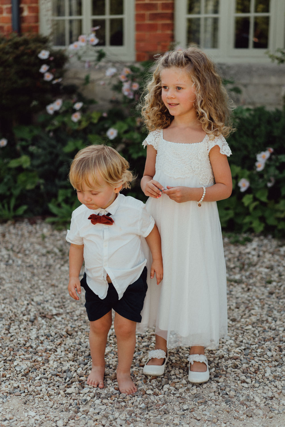 Flower Girl Page Boy Priors Court Barn Wedding Emily & Steve Photography