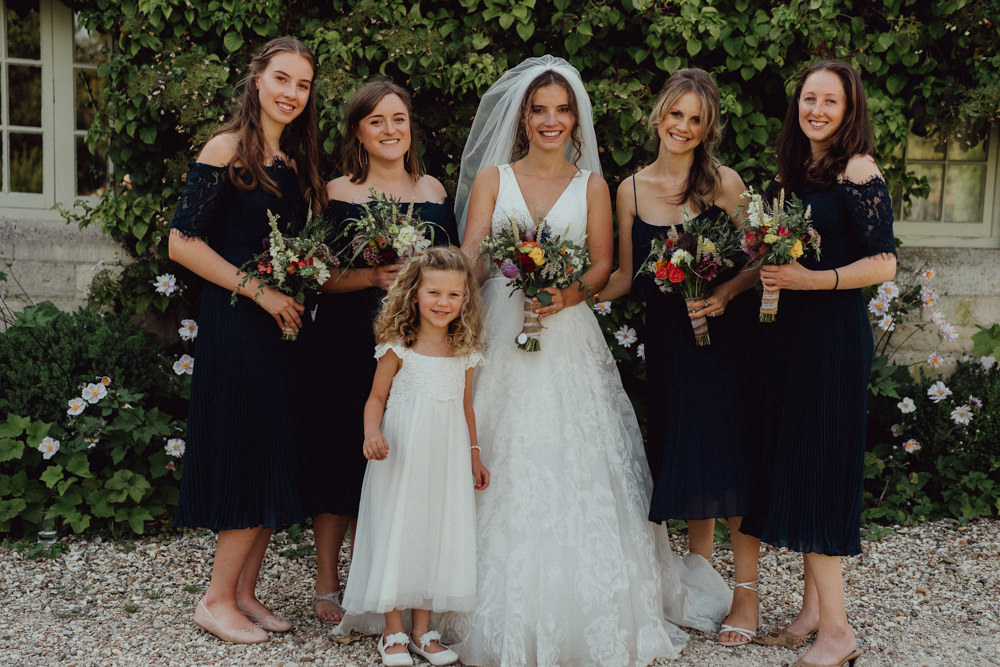 Bridesmaids Bridesmaid Dress Dresses Navy Blue Priors Court Barn Wedding Emily & Steve Photography