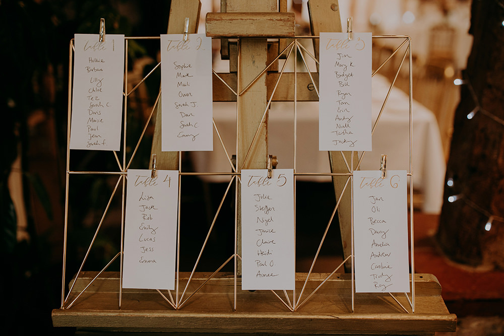 Table Plan Seating Chart Wire Romantic Rainy Wedding Irene Yap Photography