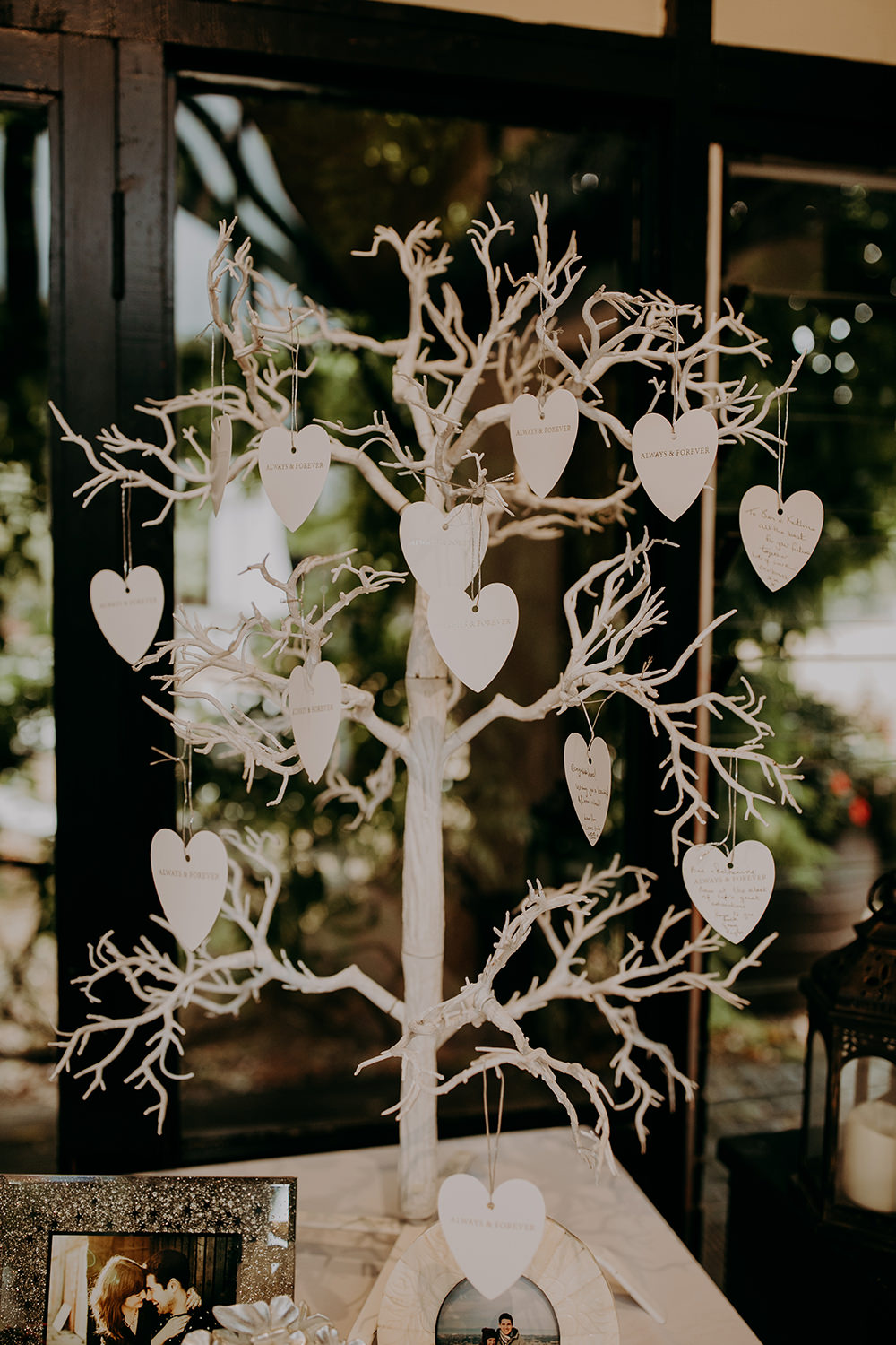Wish Tree Hearts Wooden Guest Book Romantic Rainy Wedding Irene Yap Photography