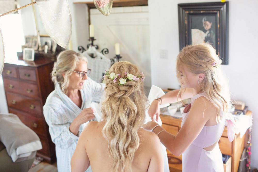 Bride Bridal Hair Waves Curls Half Up Half Down Flowers Rustic Tipi Wedding Cotton Candy Weddings