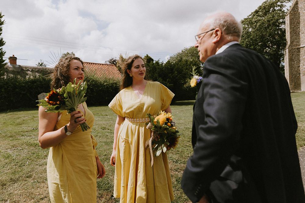 Yellow Bridesmaid Dress Dresses Bridesmaids Sunflowers Wedding Chris Bradshaw Photography
