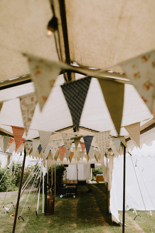 Bunting Sunflowers Wedding Chris Bradshaw Photography
