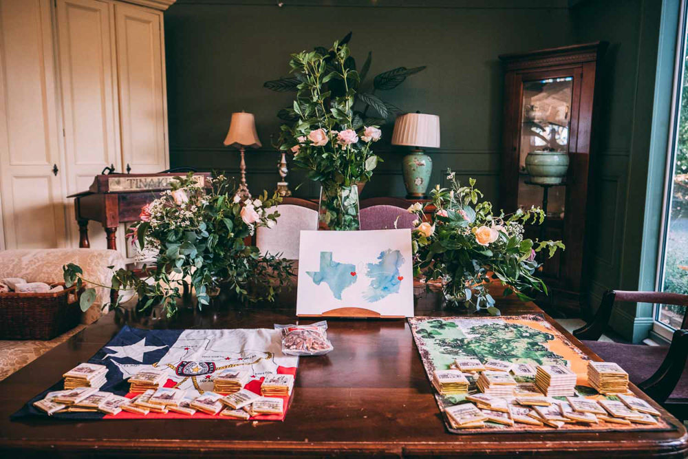 Guest Book Map Print Travel Tinakilly Country House Wedding Conor Brennan Photography