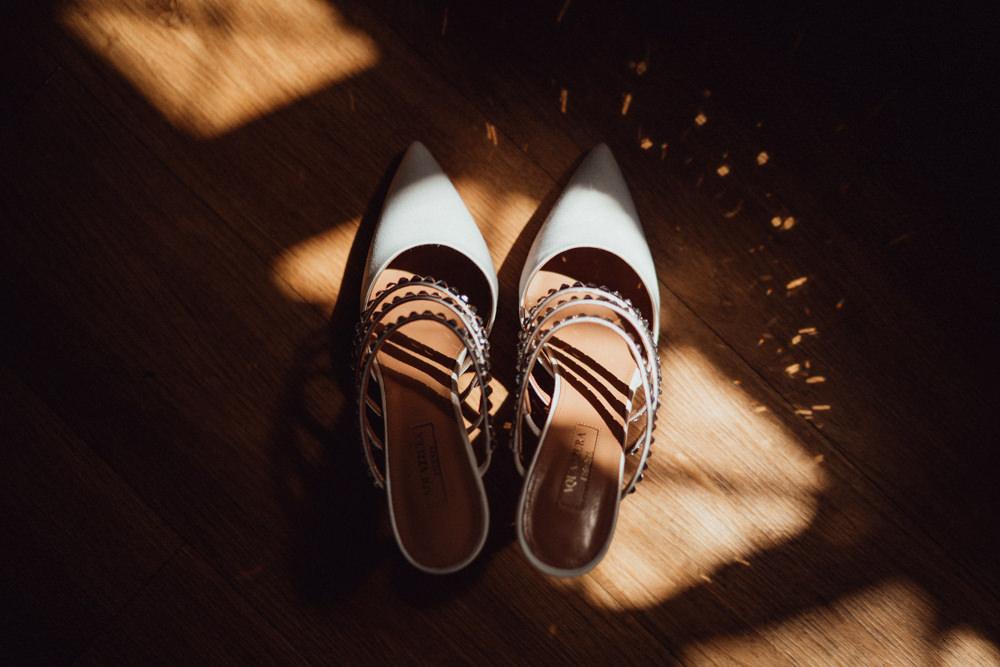 Aquazzura Shoes Pointy Ufton Court Wedding Emily & Steve Photography