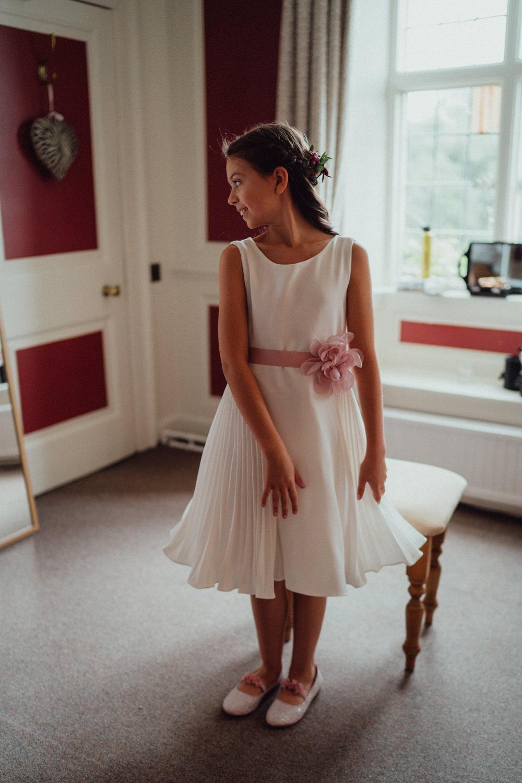 Flower Girl Dress Ufton Court Wedding Emily & Steve Photography