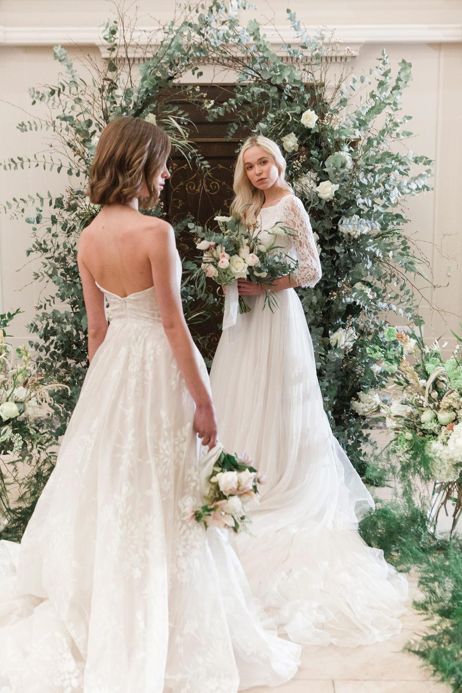 Whimsical Elegant Wedding Ideas Mandorla London Flower Arch Backdrop Aisle Ceremony Flowers Greenery Foliage Blush Rose
