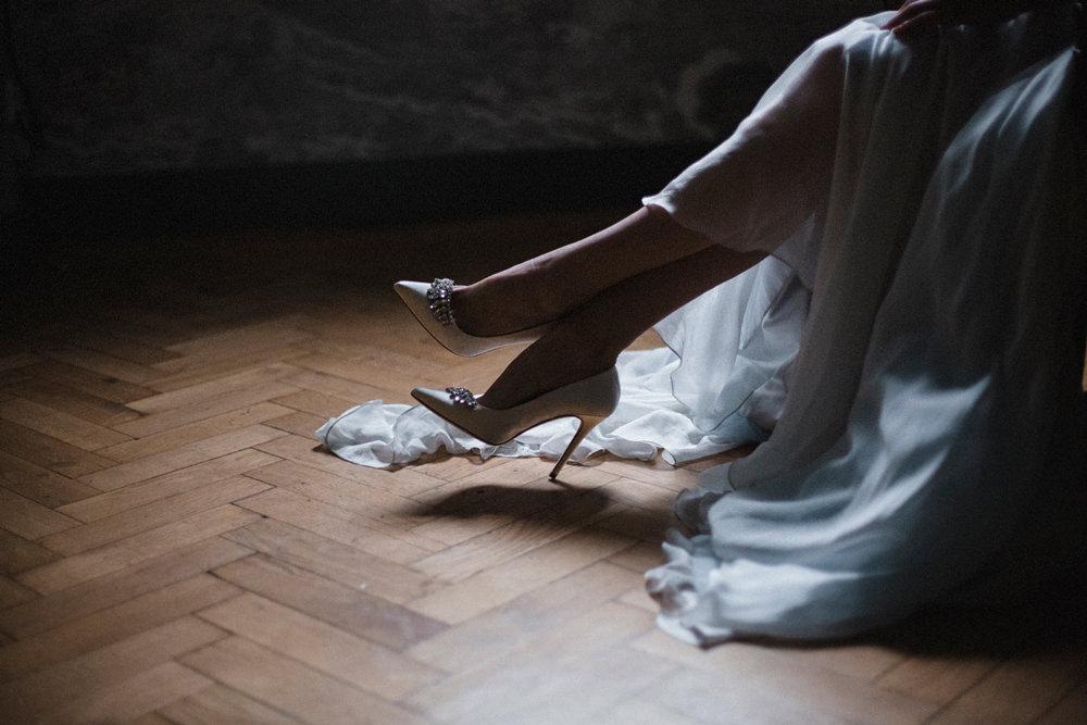 Bride Bridal Shoes Whimsical Elegant Wedding Ideas Mandorla London