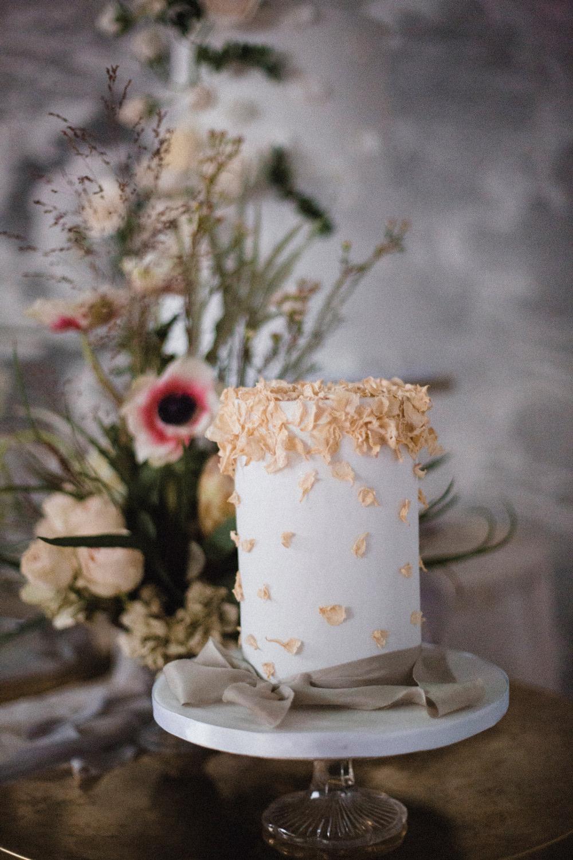 Peach Petal Cake Whimsical Elegant Wedding Ideas Mandorla London