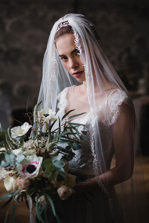 Bride Bridal Veil Whimsical Elegant Wedding Ideas Mandorla London