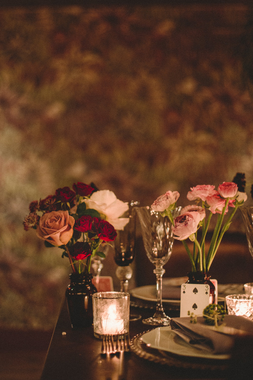 Table Flowers Centrepiece Whimsical Elegant Wedding Ideas Mandorla London