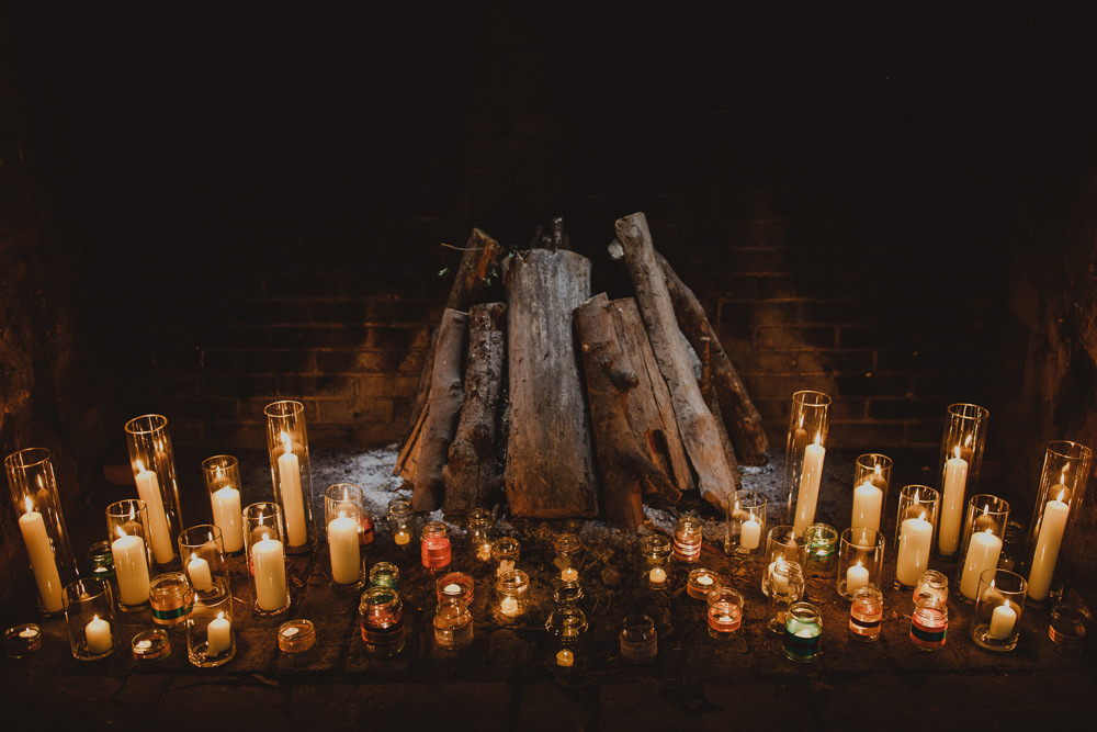 Candles Ceremony Wiltshire Barn Wedding Photography34