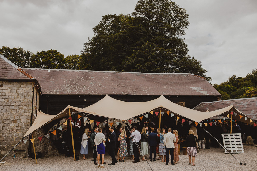 Stretch Tent Bunting Wiltshire Barn Wedding Photography34