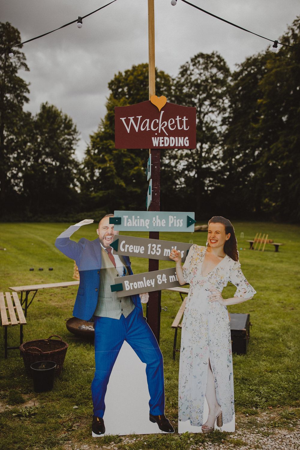 Sign Signs Signage Signpost Wiltshire Barn Wedding Photography34