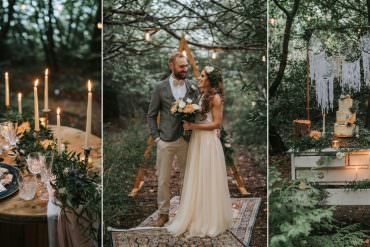 Romantic Woodland Wedding Inspiration with Macramé & Peach Tones