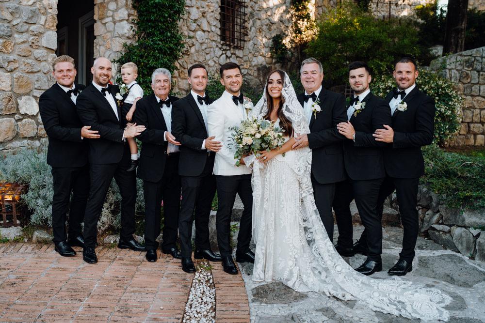 Tuxedo Suit Groomsmen Aquapetra Resort Spa Wedding Peter Hughes Photography