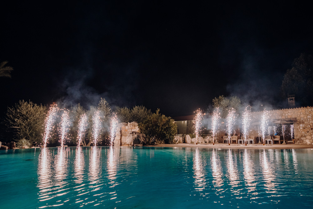 Fireworks Aquapetra Resort Spa Wedding Peter Hughes Photography