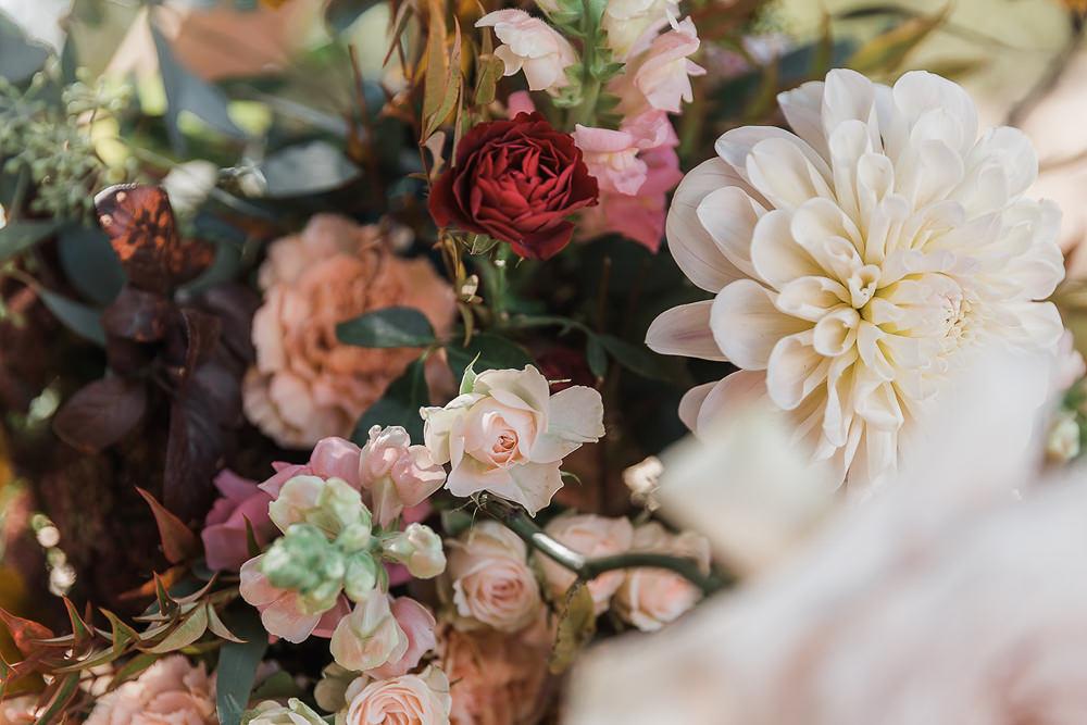 Flowers Rose Daliah California Ranch Wedding WildflowerPhotoCo