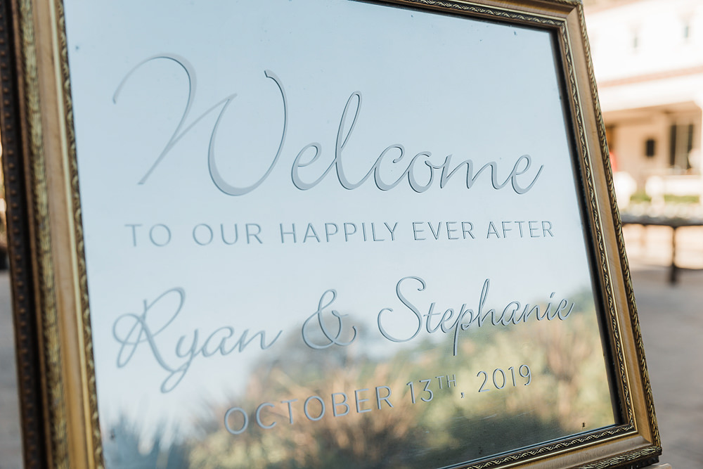 Welcome Sign Signs Signage Mirror Calligraphy California Ranch Wedding WildflowerPhotoCo