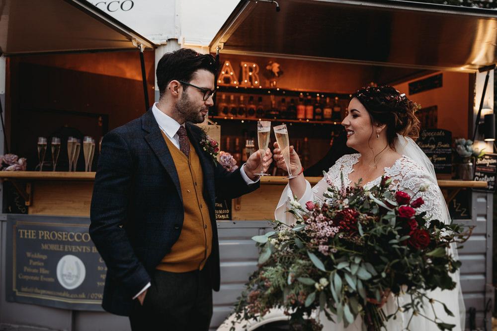 Horsebox Bar Christmas Marquee Wedding Thyme Lane Photography