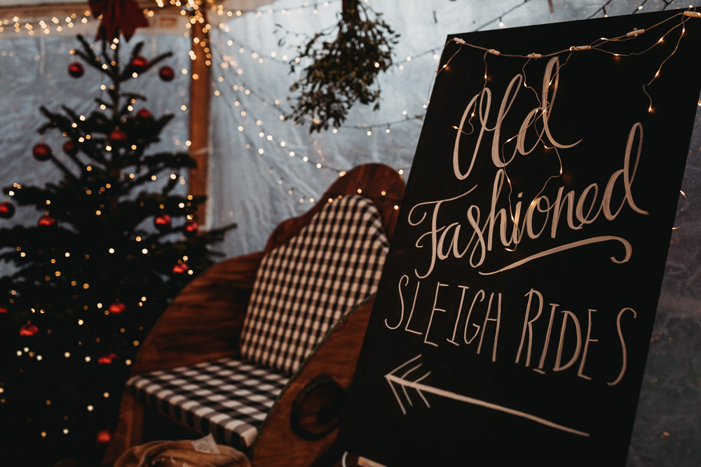 Sleigh Ride Photo Booth Christmas Marquee Wedding Thyme Lane Photography