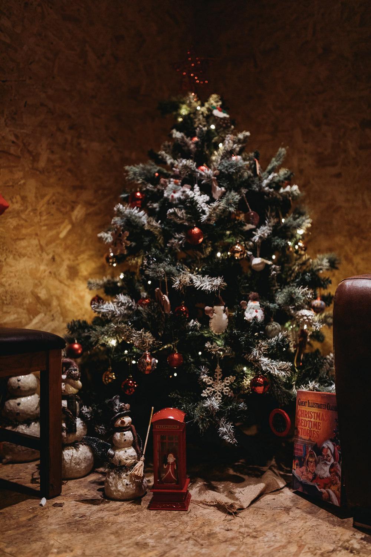 Christmas Tree Marquee Wedding Thyme Lane Photography