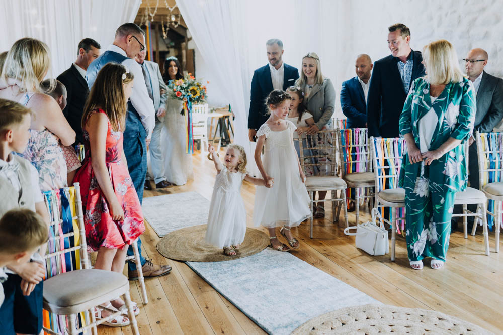 Flower Girl Dress Chypraze Wedding Barn Clara Cooper Photography