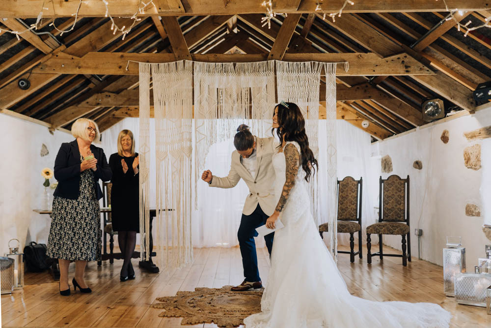 Macrame Backdrop Ceremony Aisle Hanging Chypraze Wedding Barn Clara Cooper Photography