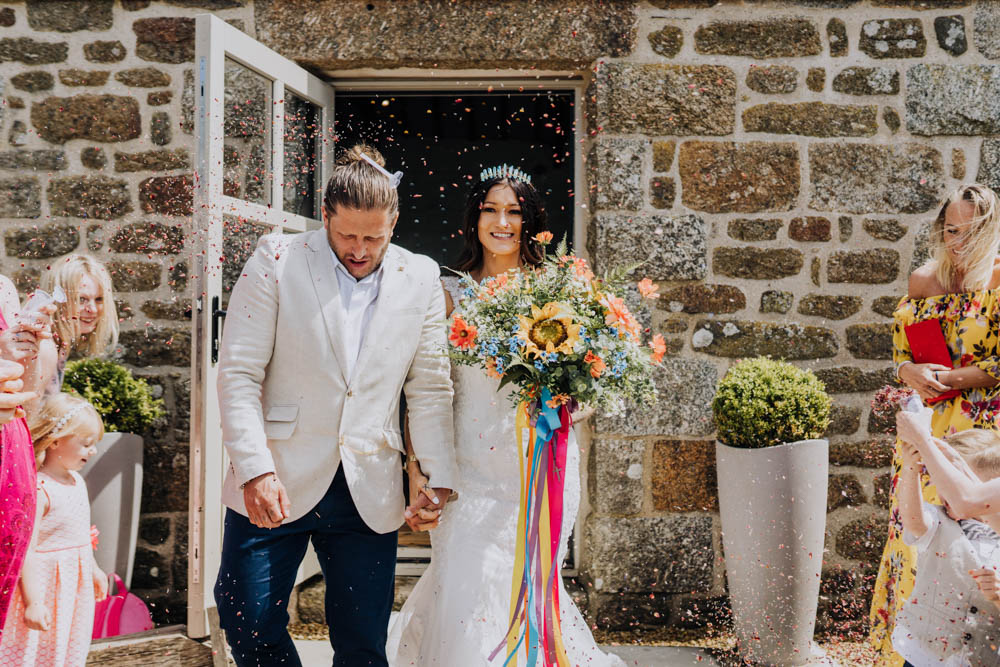 Confetti Chypraze Wedding Barn Clara Cooper Photography