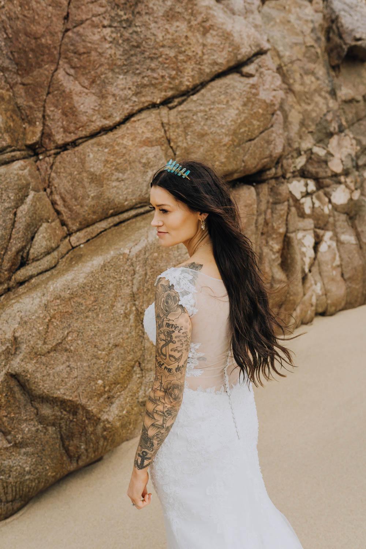 Dress Gown Bride Bridal Sheer Lace Illusion Mermaid Chypraze Wedding Barn Clara Cooper Photography