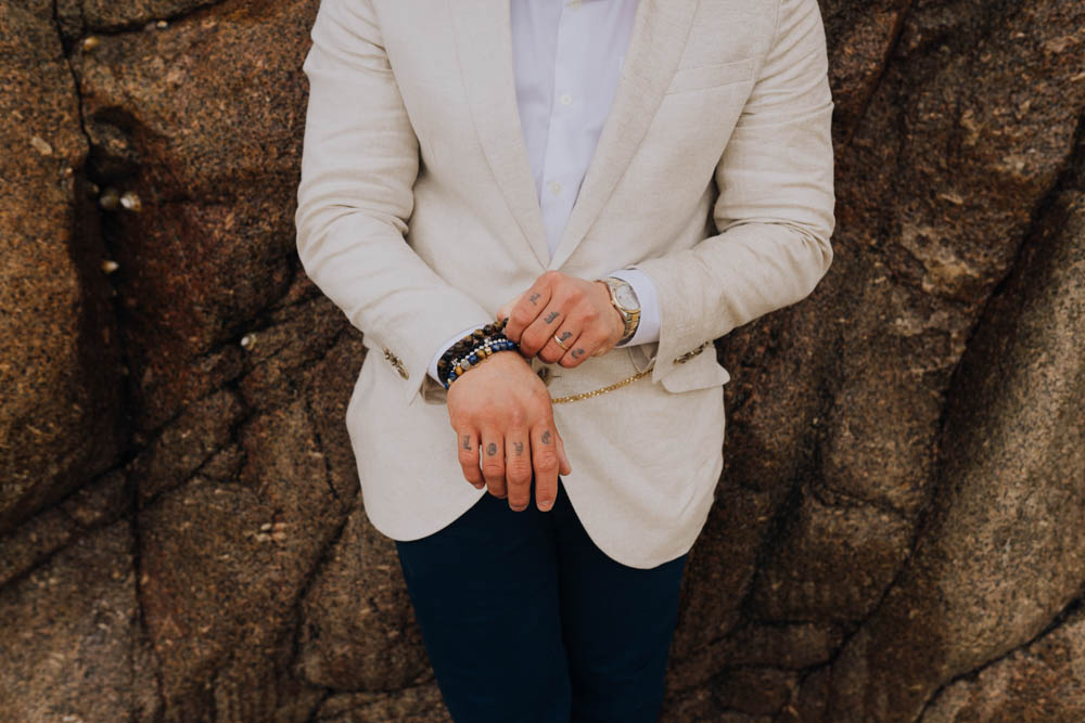 Groom Suit Blazer Cream Jacket Trousers Chypraze Wedding Barn Clara Cooper Photography