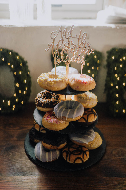Donut Doughnut Tower Stack Cake Topper Chypraze Wedding Barn Clara Cooper Photography