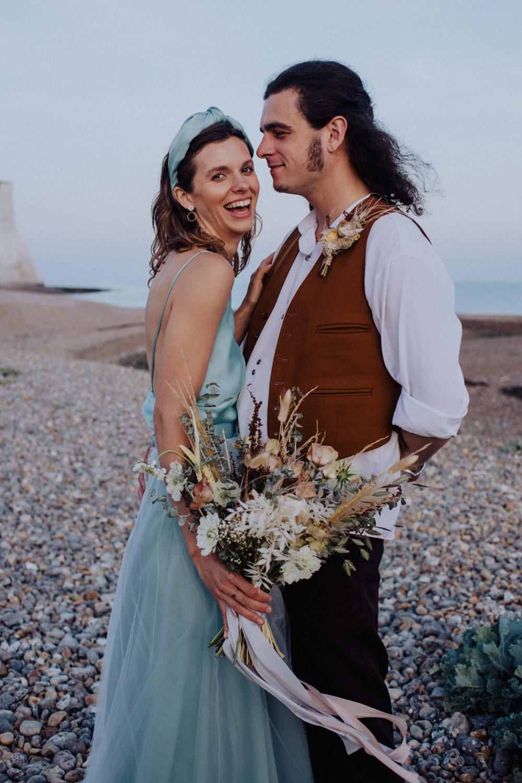Groom Suit Waistcoat Buttonhole Coastal Elopement Manon Pauffin Photography