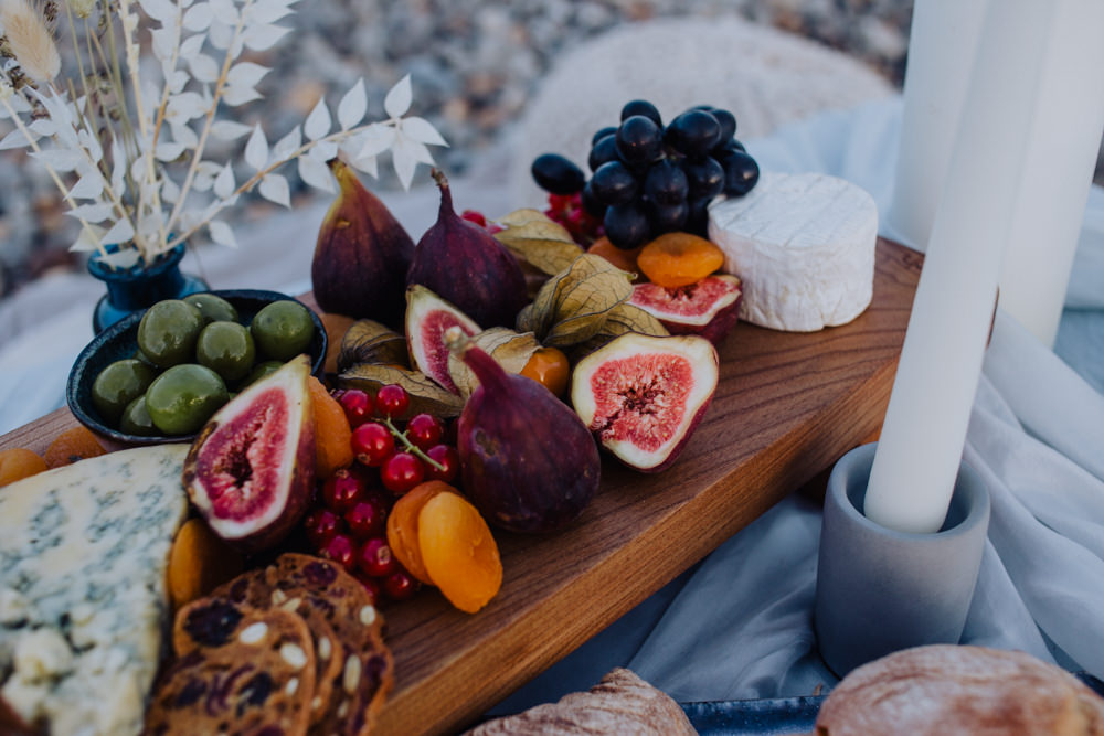 Fruit Grazing Table Sharing Platter Coastal Elopement Manon Pauffin Photography