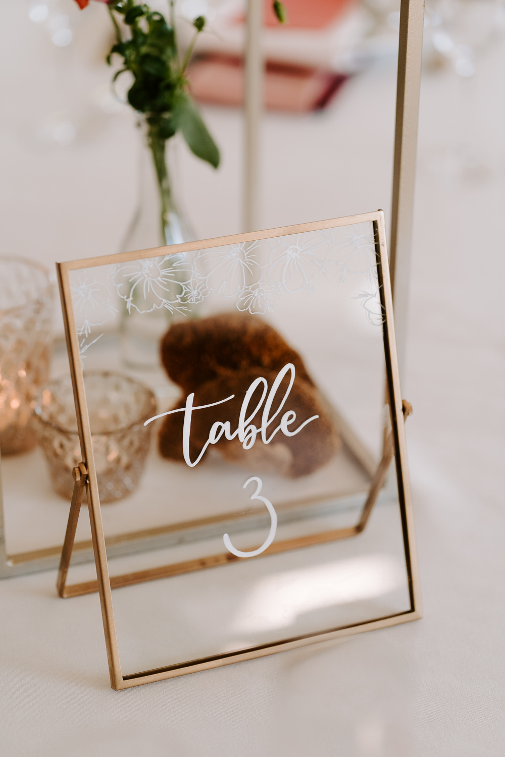 Glass Clear Perspex Acrylic Table Number Contemporary Wedding Ideas Chloe Ely Photography