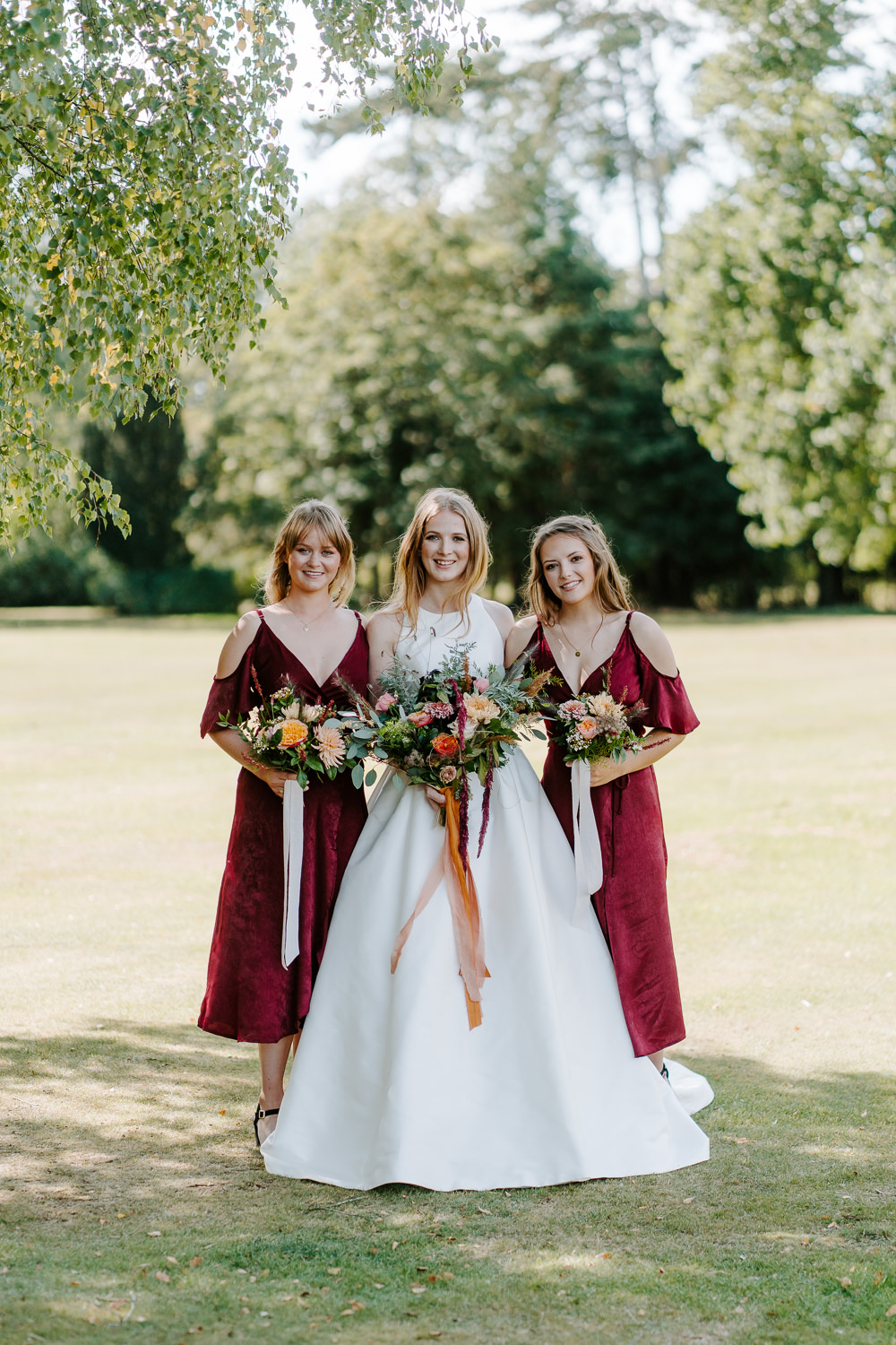 Red Burgundy Bridesmaid Bridesmaids Dress Dresses Contemporary Wedding Ideas Chloe Ely Photography