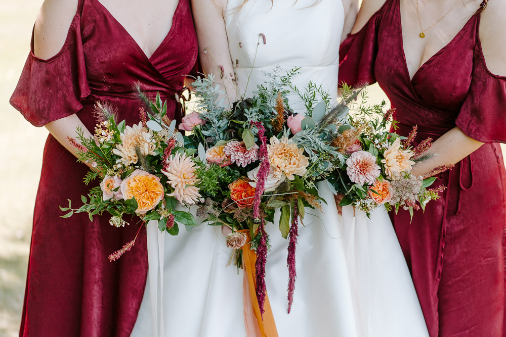 Bride Bridal Bouquet Flowers Eucalyptus Grass Daliah Rose Bridesmaids Contemporary Wedding Ideas Chloe Ely Photography