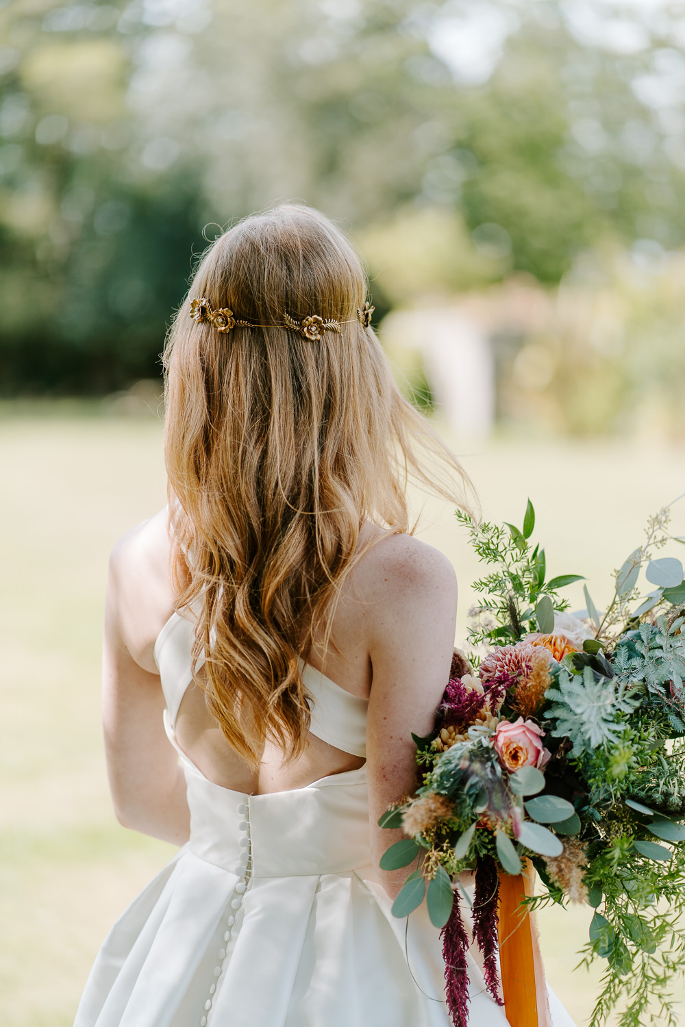 Bride Bridal Hair Bridesmaid Style Half Up Half Down Accessory Contemporary Wedding Ideas Chloe Ely Photography