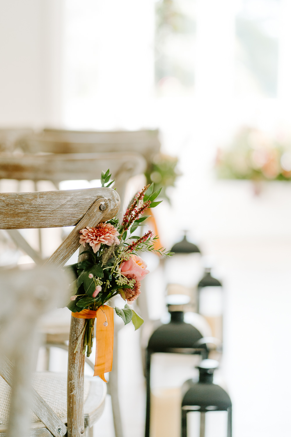Pew End Aisle Flowers Chairs Contemporary Wedding Ideas Chloe Ely Photography