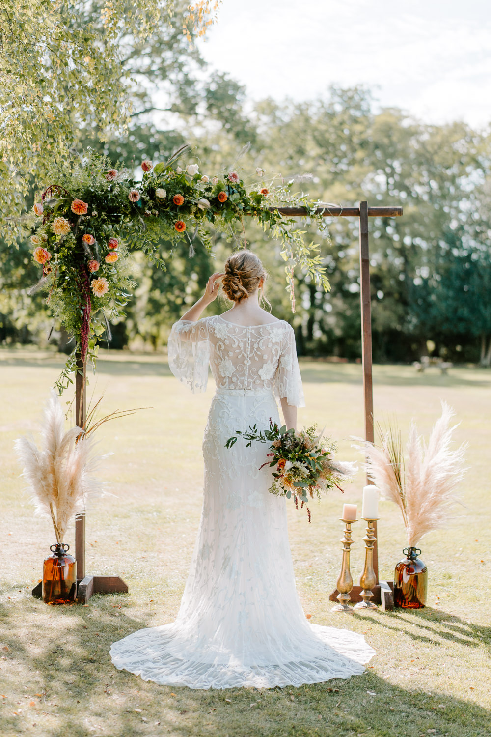 Flower Arch Backdrop Contemporary Wedding Ideas Chloe Ely Photography