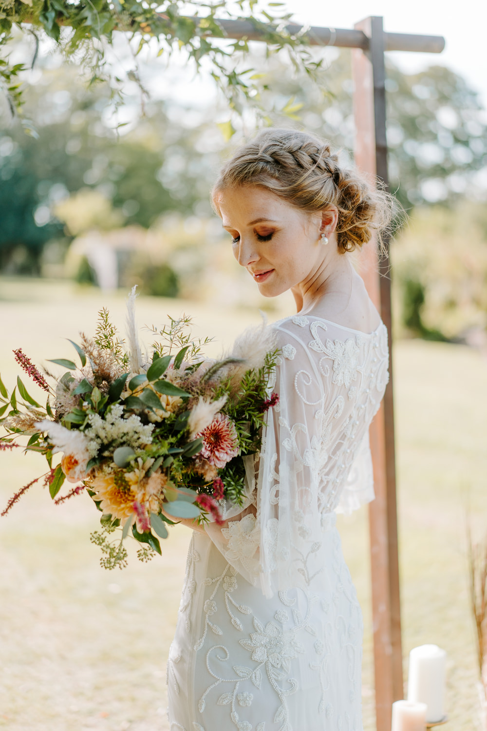 Bride Bridal Hair Style Up Do Plait Braid Contemporary Wedding Ideas Chloe Ely Photography