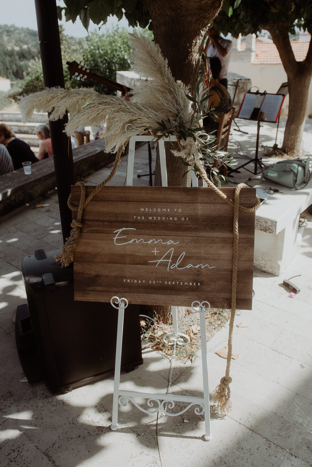 Welcome Sign Wooden Signs Signage Crete Destination Wedding Me and Georgia Photography