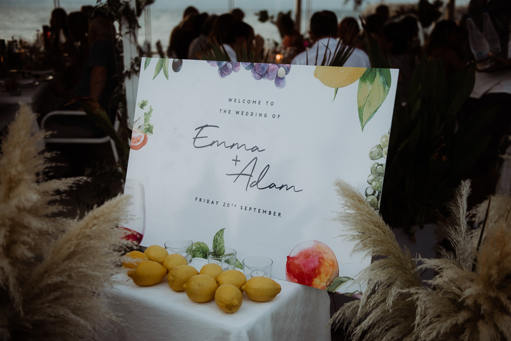 Welcome Sign Signs Signage Fruit Crete Destination Wedding Me and Georgia Photography