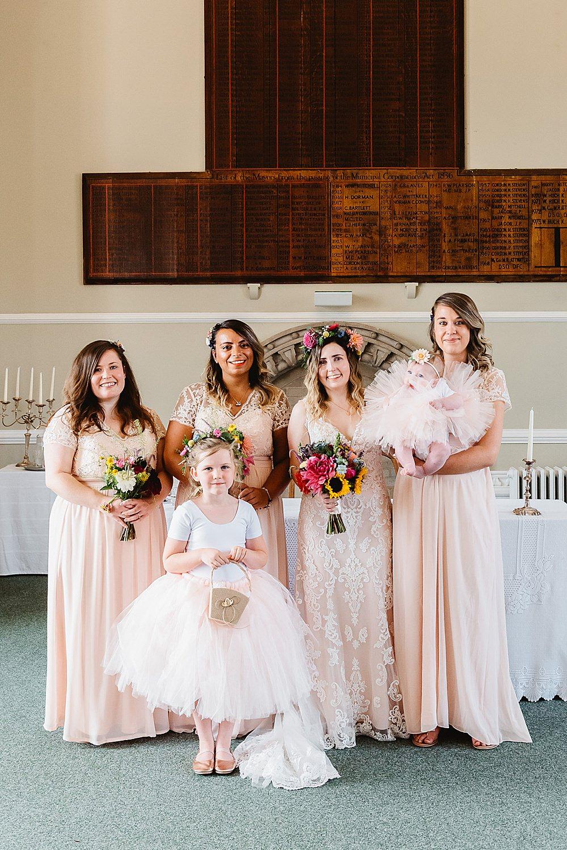 Bridesmaids Bridesmaid Dress Dresses Pink DIY Tipi Wedding Fiona Kelly Photography