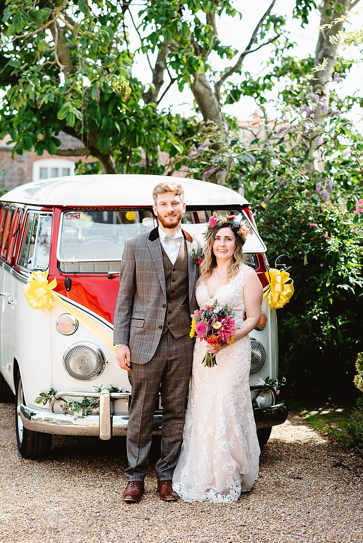 VW Campervan Transport DIY Tipi Wedding Fiona Kelly Photography