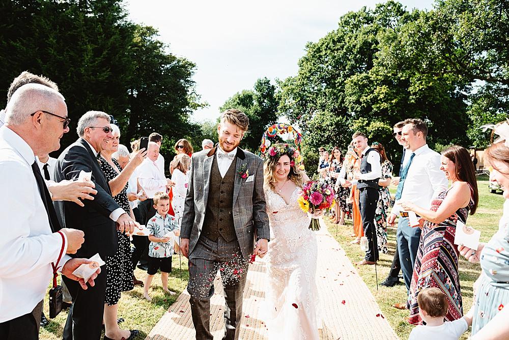 Confetti Throw DIY Tipi Wedding Fiona Kelly Photography