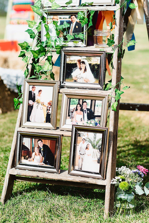 Wooden Ladder Photos Photographs DIY Tipi Wedding Fiona Kelly Photography